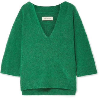 By Malene Birger Wanlay Cropped Knitted Sweater - Green