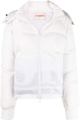 Iceberg quilted zip-up hooded jacket