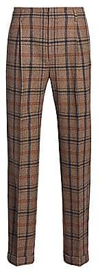 Gucci Men's Mountain Check Wool-Blend Trousers