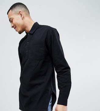 Asos DESIGN Tall Oversized Overhead Shirt With Side Splits