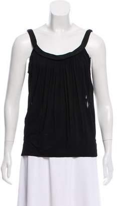 Donna Karan Belted Sleeveless Top