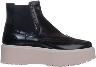Hogan Chunky Heel Boots