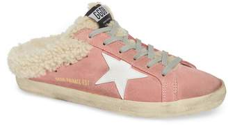 Golden Goose Sabot Superstar Genuine Shearling Slide Sneaker