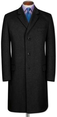 Charles Tyrwhitt Slim Fit Charcoal Wool and Cashmere OverWool/cashmere coat Size 46