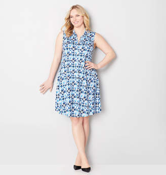 Avenue Retro Floral A-Line Dress