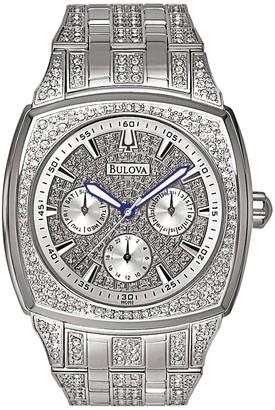 Bulova Men's Crystal Stainless Steel Watch - 96C002