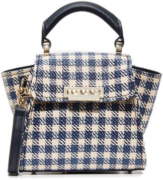 ZAC Zac Posen Eartha Gingham Staw Mini Top Handle Bag $295 thestylecure.com