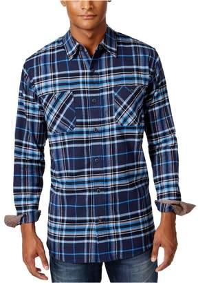 Weatherproof Mens Vintage Plaid Flannel Button Up Shirt M