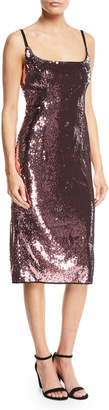 Milly Jessica Sequin Dress w/ Adjustable Straps