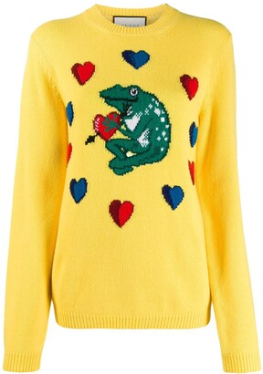 Gucci frog intarsia sweater