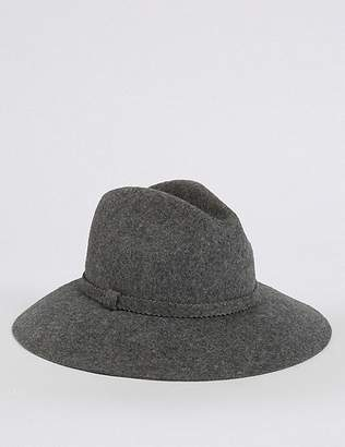 Marks and Spencer Pure Wool Fedora Hat
