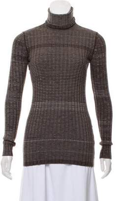 Dolce & Gabbana Striped Turtleneck Sweater Brown Striped Turtleneck Sweater