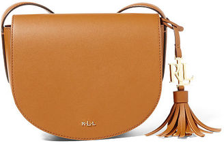 Ralph Lauren Lauren Leather Mini Caley Saddle Bag $148 thestylecure.com