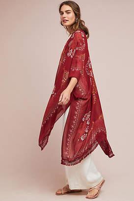Anthropologie Sabrina Fringed Kimono