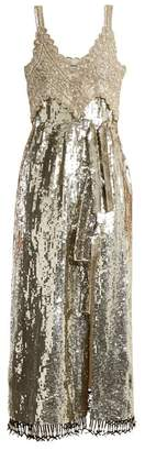 Altuzarra Elan sequin and bead-embellished silk dress