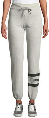 Sundry Basic Metallic-Stripe Drawstring Sweatpants