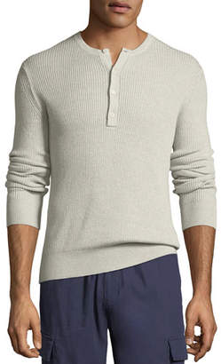 Vince Men's Ribbed Henley Shirt