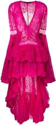 Amen frill tiered lace dress