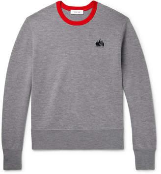 Helmut Lang Contrast-Tipped Merino Wool Sweatshirt