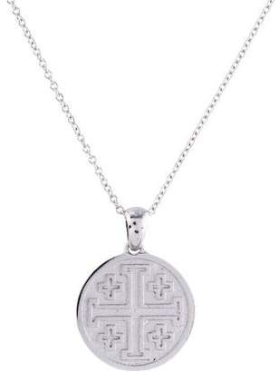 Reiss I. 14K Jerusalem Cross Pendant Necklace