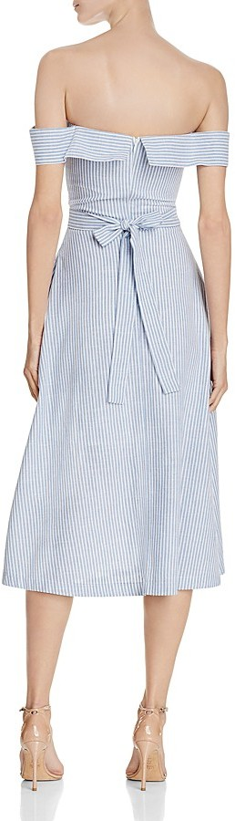 JOA Striped Poplin Off-The-Shoulder Dress - 100% Exclusive 2