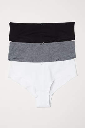 H&M 3-pack Cotton Hipster Briefs - Gray