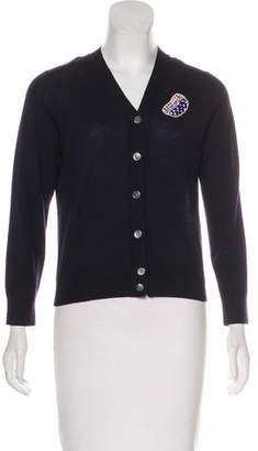 Marc Jacobs Embroidered Wool Cardigan