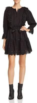 Rebecca Taylor Cotton Ruffle-Trim Dress