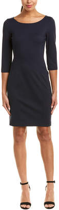 Three Dots Ponte Sheath Dress