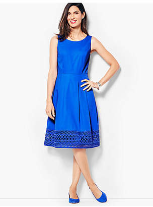 Talbots Sateen Fit & Flare Dress