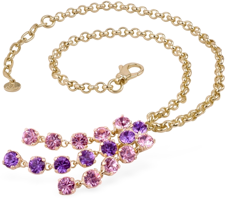 A-Z Collection Pink & Amethyst Gold-plated Necklace
