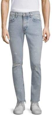 Hudson Vaughn Skinny Cotton Ankle Zip Jeans