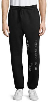 Alexander Wang Metallic-Trimmed Sweatpants