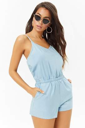 Forever 21 Chambray Cami Romper