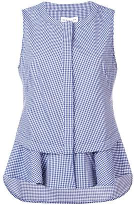Derek Lam 10 Crosby Sleeveless Top with Ruffle Hem