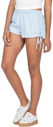 Women's Volcom Ruched Chambray Shorts $39.50 thestylecure.com