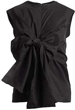 Dries Van Noten Women's Tie-Front Sleeveless Blouse