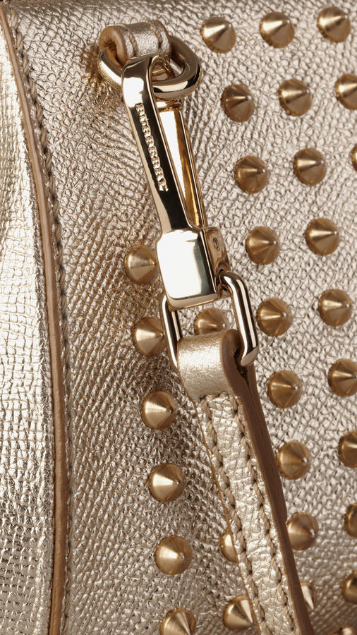 Burberry The Mini Blaze in Studded Patent London Leather