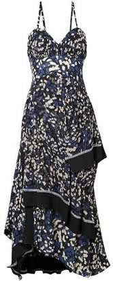 3.1 Phillip Lim Pleated Printed Silk Crepe De Chine Midi Dress