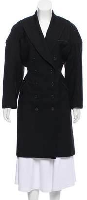 Alaia Double-Breasted Knee-Length Coat