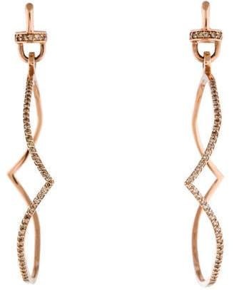 Paige Novick Phyne by 14K Diamond Elisabeth Curved Hoop Earrings
