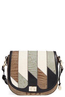 Brahmin Caspian Sonny Leather Crossbody Bag - Green $315 thestylecure.com