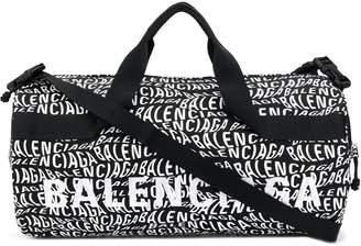 Balenciaga Wheel wave logo gym bag