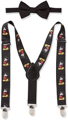 Disney Baby Boy's Mickey Mouse Bowtie & Suspender Set Accessory