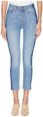 The Kooples Lizy Jeans with An Unfinished Side Hoop in Blue Women's Jeans