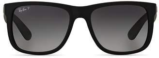 Ray-Ban Justin Polarized Square Sunglasses, 55mm