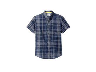 Original Penguin Short Sleeve Linen Plaid Shirt