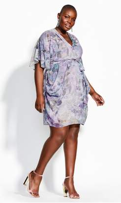 City Chic Citychic Crystal Wrap Dress - crystal