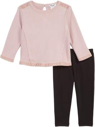 Splendid Velvet Sweatshirt & Leggings Set