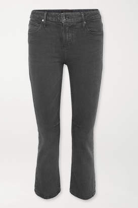 RtA Kiki Cropped High-rise Flared Jeans - Black